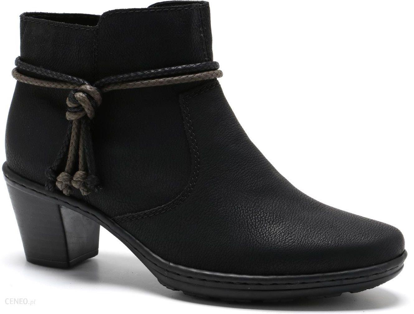 RYŁKO buty botki KLASA 7IY44B1 czarne welur 39 www
