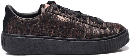 buty puma basket platform metallic high