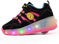 a4d672cd Amazon Buty unisex z rolki Skateboard dzieci dziewczynki chłopcy lampka LED  świeci podeszwa świecące Sport obuwie sportowe bez USB dostępny jest jeden