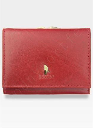 35668e8ebeda5 Portfel Damski Skórzany PUCCINI Klasyczny Czerwony z Biglem 1701P Mały