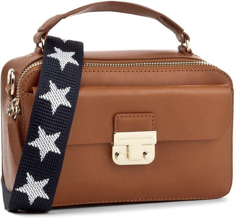 41359ff8fd1bc Torebka TOMMY HILFIGER - Fashion Hardware Leather Mini Crossover AW0AW04291  279 - zdjęcie 1