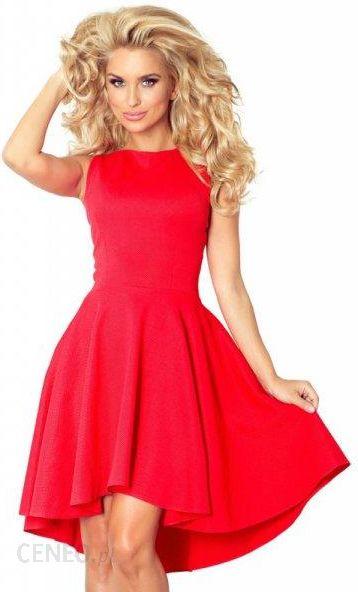 b466be4aeb 66-12 Ekskluzywna sukienka z dłuższym tyłem - CZERWONA - Ceny i ...