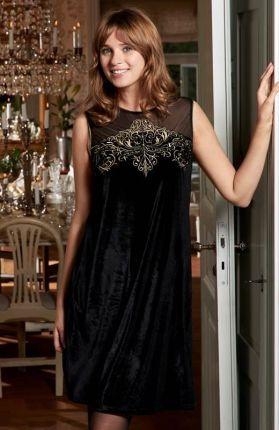 74913a677b Oszałamiająca sukienka z falbaną L259 czarny - Ceny i opinie - Ceneo.pl