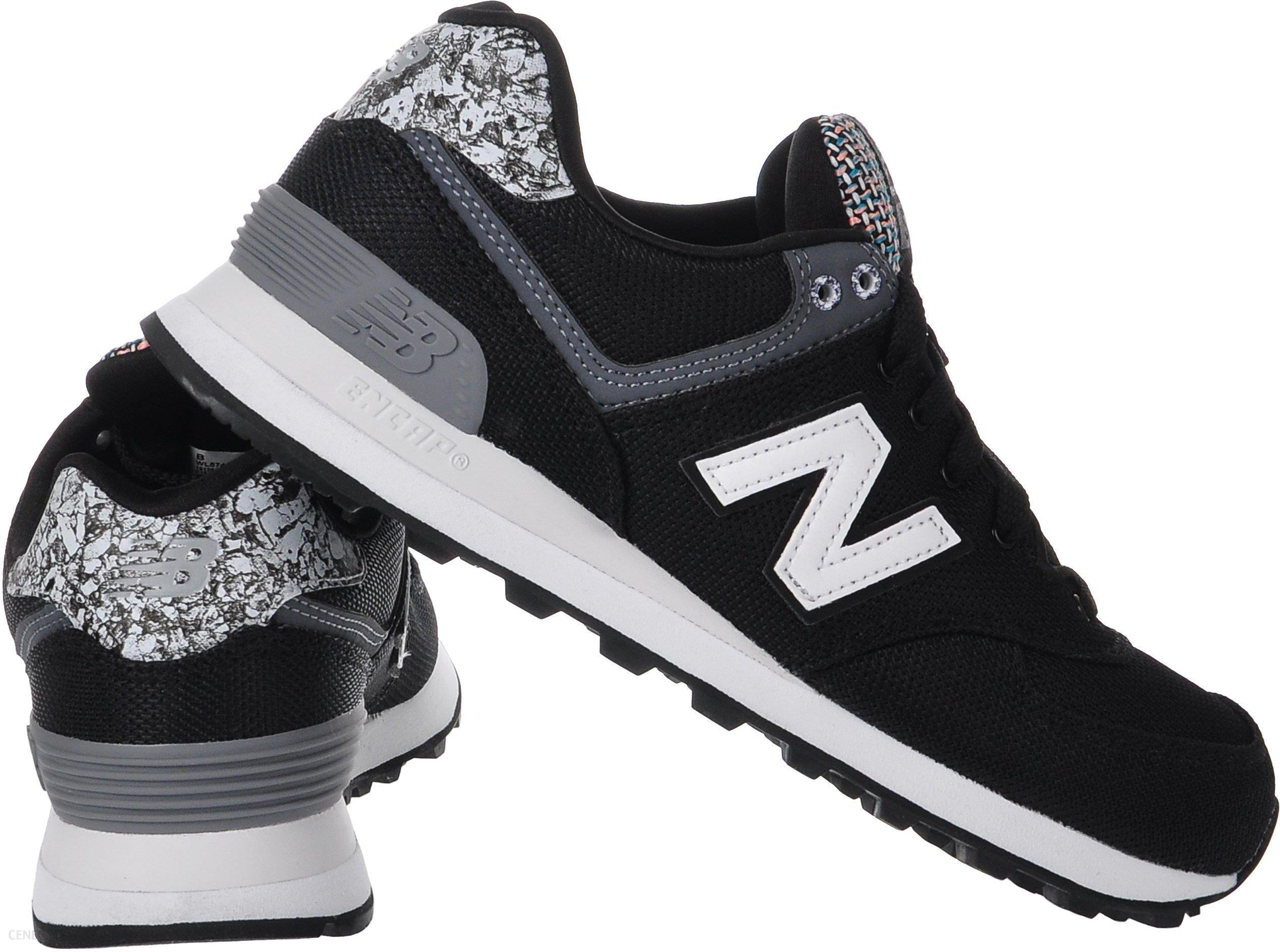new balance 574 czarno białe damskie