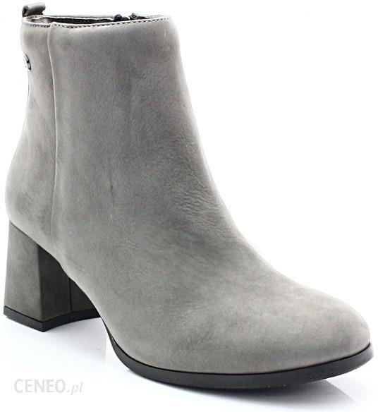 df61aef59c153 LEMAR 60137 SZARE - Eleganckie botki na niskim obcasie - Ceny i ...