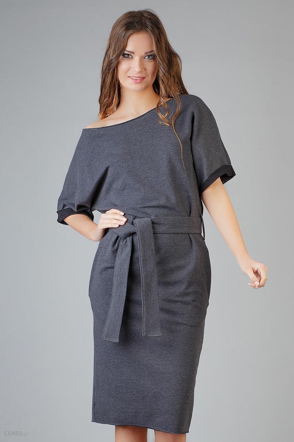 41a0c0072e Sukienka Model Aleksandra 9 Dark Grey - Ceny i opinie - Ceneo.pl