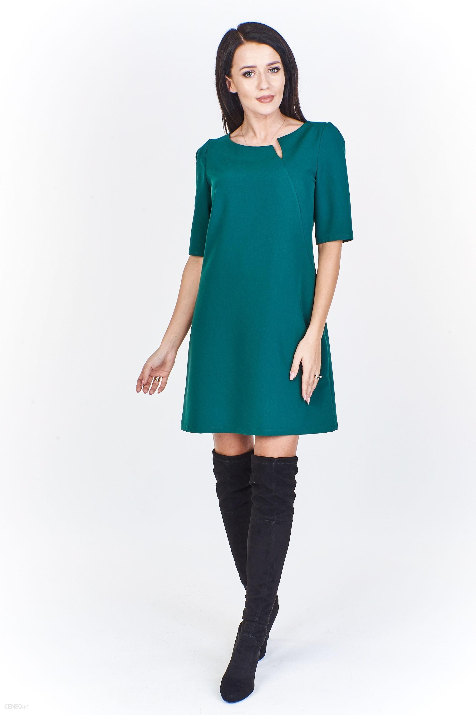 5b9b87d467 PtakModa - Wizytowa sukienka w kształcie litery A NICOL - Ceny i ...