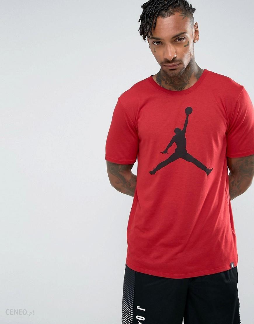 df0455733a34fc Nike Jordan Jumpman Logo T-Shirt In Red 834473-687 - Red - Ceneo.pl