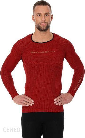 7aae200f10194e Brubeck Koszulka Męska 3D Run Pro Z Długim Rękawem Czerwona - Ceny i ...