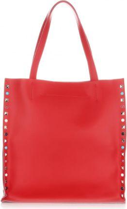 5387850012805 Włoskie Torebki Skórzane ShopperBag XL Genuine Leather Czerwona (kolory) ...