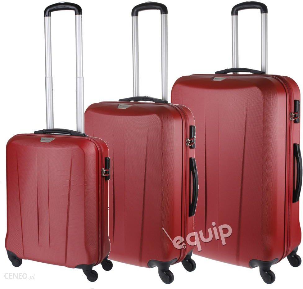 21209239f38a5 Zestaw walizek Puccini Paris - czerwony - Ceny i opinie - Ceneo.pl