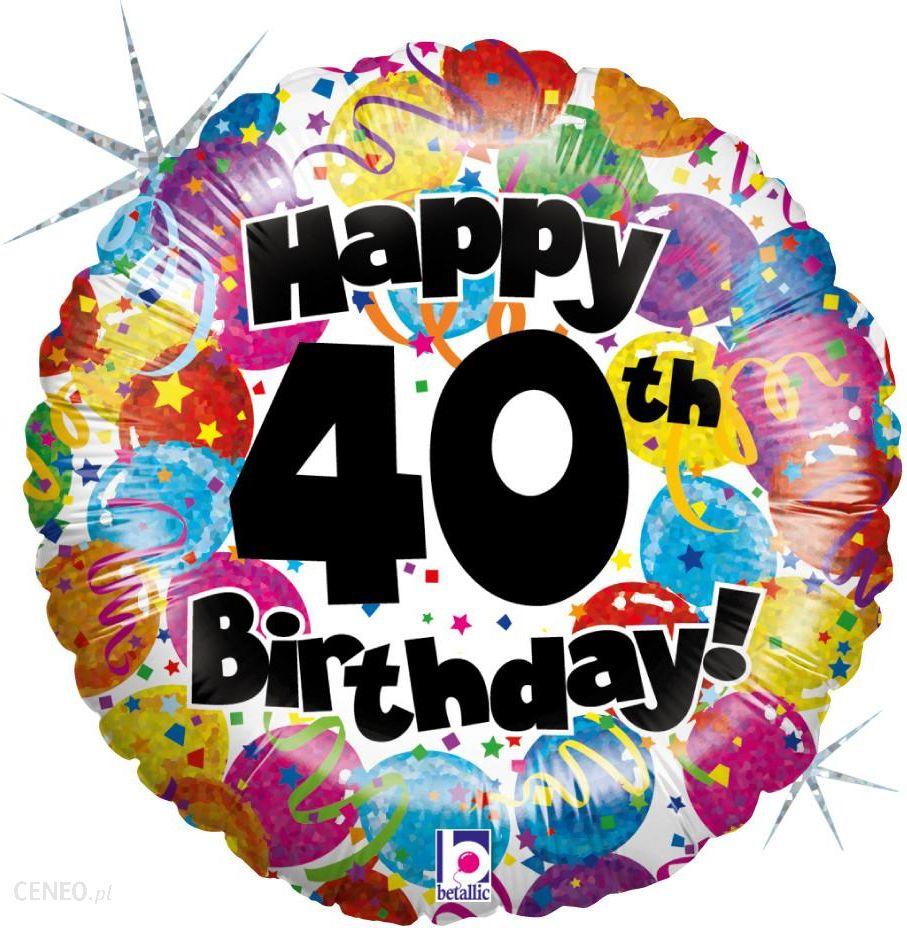 Vds Ballon Balon Z Helem Happy Birthday 40 Urodziny Ceny I Opinie Zdjcie 1