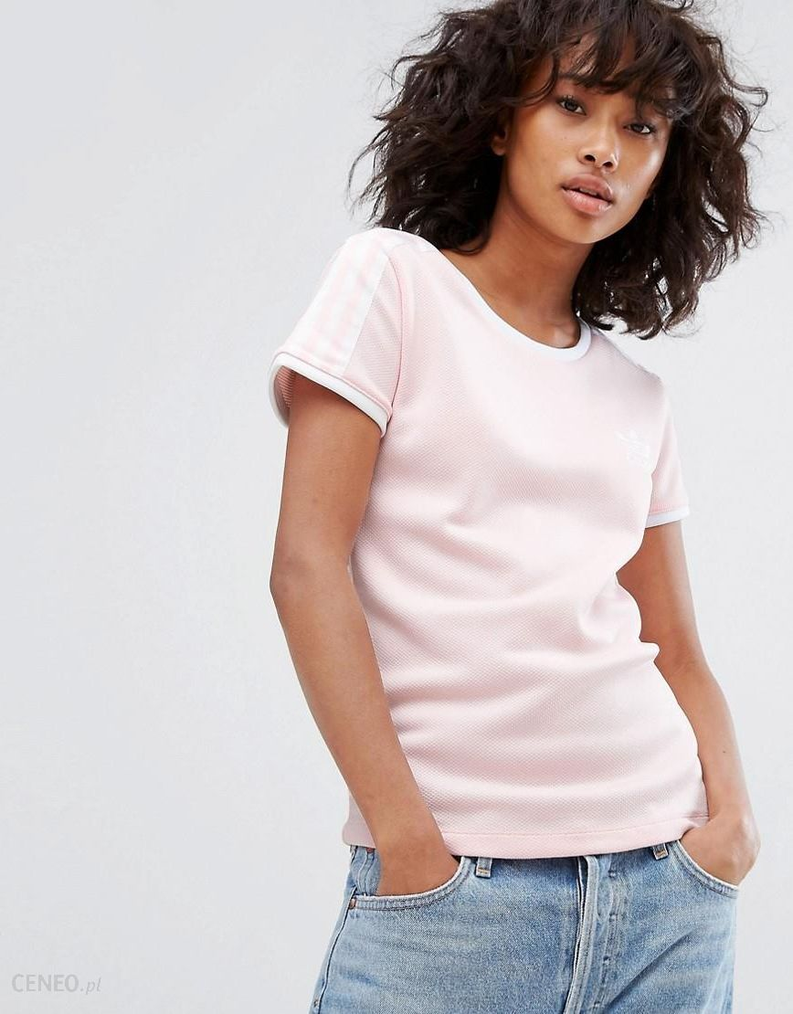 adidas Originals Sandra 1977 Fitted Tee In Pale Pink Pink