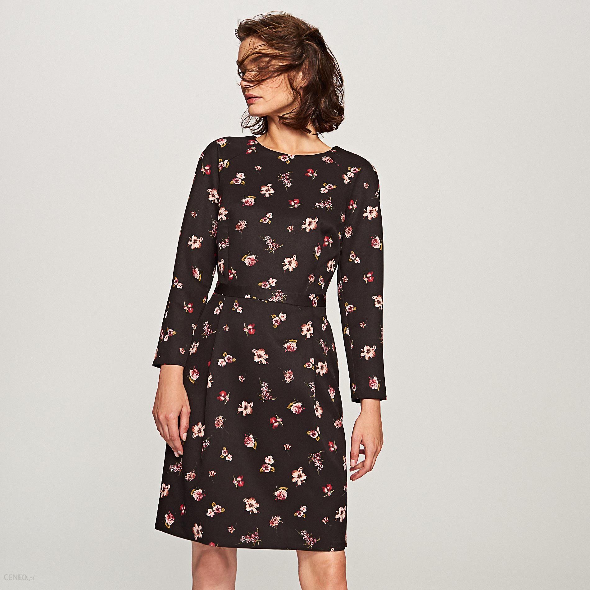 7ef6420b2c8726 Reserved - Sukienka w kwiaty - Wielobarwn - Ceny i opinie - Ceneo.pl