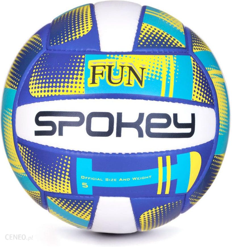 9d0e7b051 Spokey Piłka Do Siatkówki Fun Iii 5 Niebiesko-Granatowo-Żółto-Biały -  zdjęcie