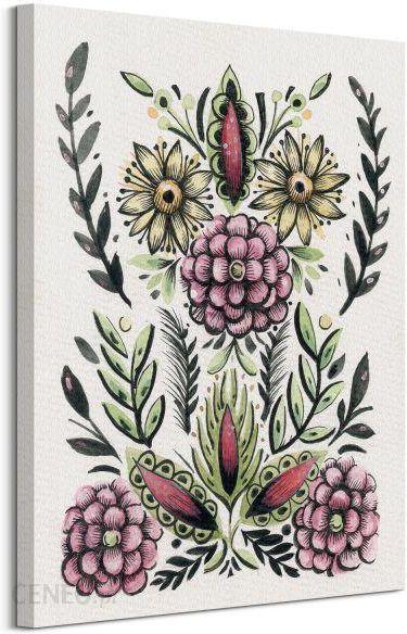 6cd75c90 Folk Floral II - obraz na płótnie