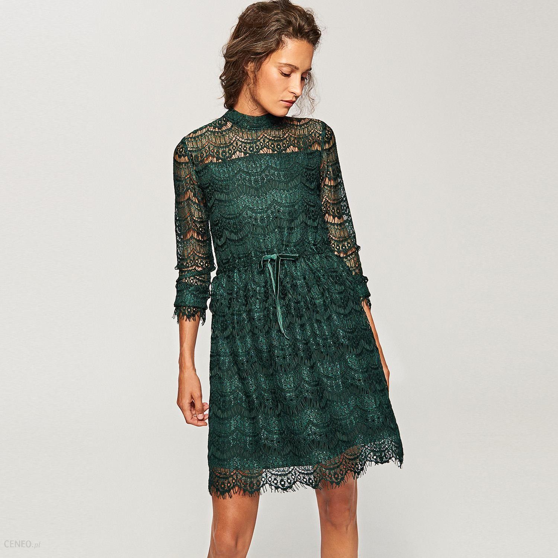 c857a3e5cd Reserved - Koronkowa sukienka - Zielony - Ceny i opinie - Ceneo.pl