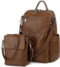 3e096646c4321 Amazon uto damski Back Pack Purse prać PU skórzana Ladies plecak na ramię  Tasch Czarny