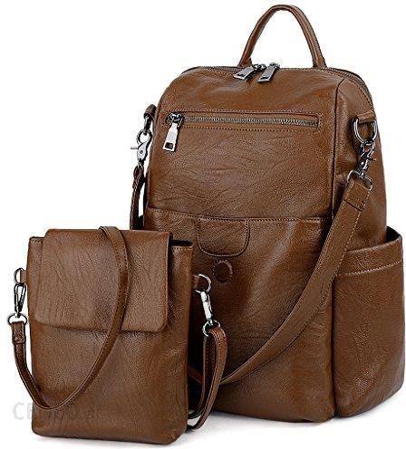 577f5bc43b55b Amazon uto damski Back Pack Purse prać PU skórzana Ladies plecak na ramię  Tasch Czarny -