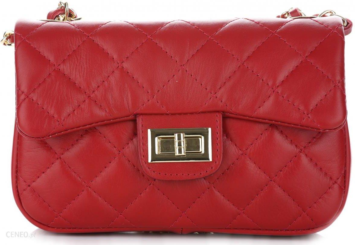 404fed0c699c6 Włoska Pikowana Torebka ze skóry naturalnej Listonoszka firmy Genuine  Leather Czerwona (kolory) - zdjęcie