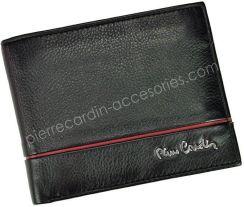 e7bcf9490d823 Portfel Męski Pierre Cardin Tilak15 8806SaharaRFID - czarny + czerwony -  zdjęcie 1