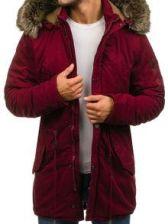 kurtka meska zimowa bordowa denley