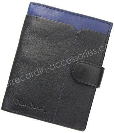 1fc400aba00e1 Portfel Męski Pierre Cardin Tilak14 326A Niebieski - czarny / niebieski