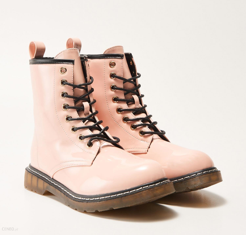 f5733901a02695 House - Wysokie sznurowane buty - Różowy - Ceny i opinie - Ceneo.pl