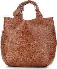aa3b7678ac657 Stylowa Torebka ze skóry naturalnej włoskiej fimy Genuine Leather Ruda  (kolory) Panitorbalska.pl