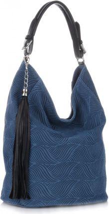 162292fa12488 Uniwersalna i Ekskluzywna Włoska Torebka Skórzana Niebieska - Jeans  (kolory) ...