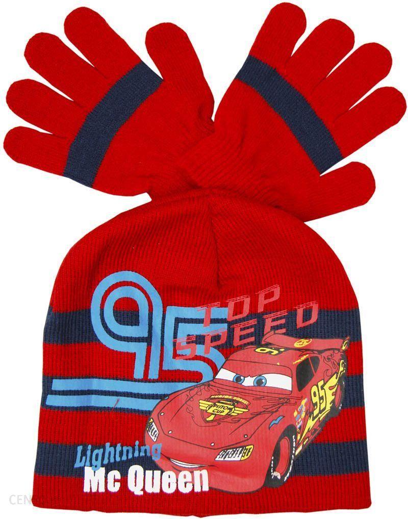 4e4790dc0 CARS Czapka i rękawiczki zestaw zimowy dla chłopca Disney Cars, Czerwony r.  54 -