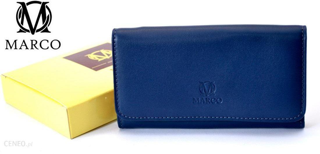 8312a7c8a7621 MARCO skórzany portfel damski PD-62 granatowo-czerwony - Ceny i ...