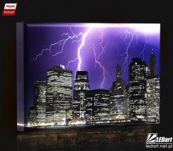 Manhattan Burza Obraz Podświetlany Led Opinie I Atrakcyjne Ceny Na