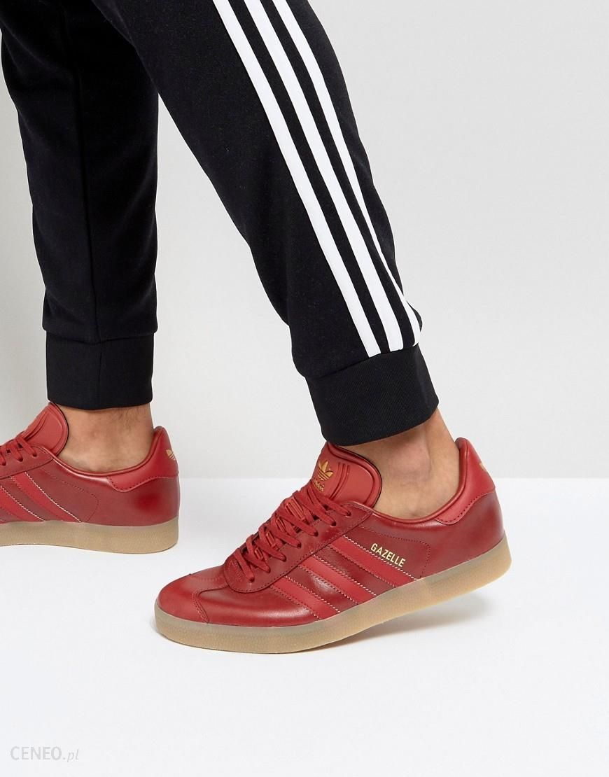 Adidas Originals Gazelle Leather Trainers In Red BZ0025 Red Ceneo.pl