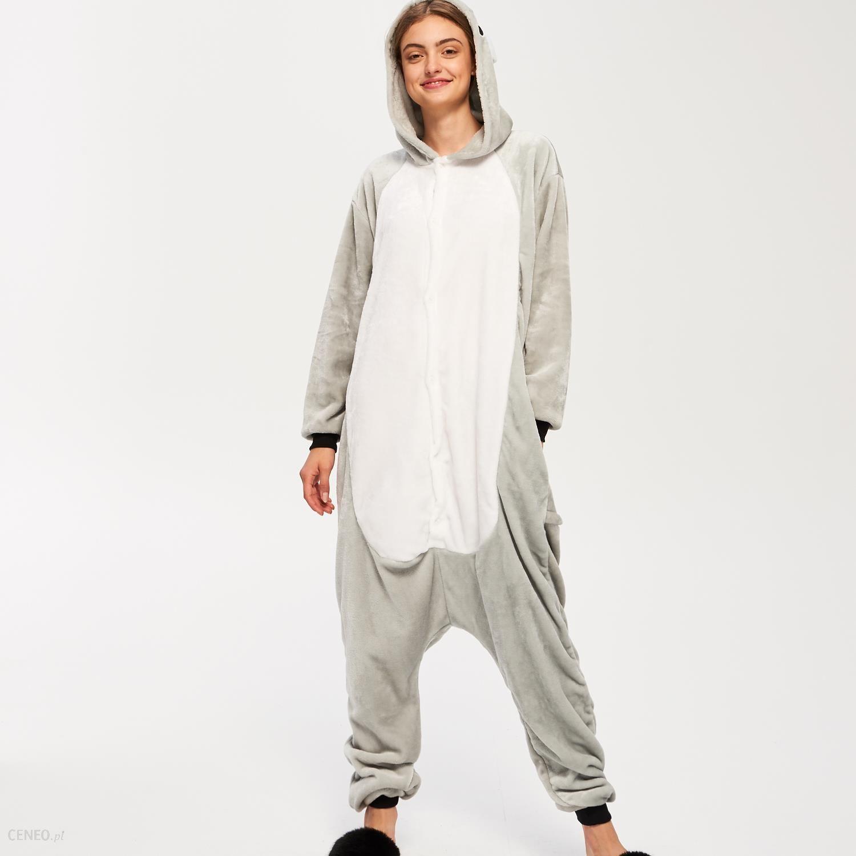 244c687eb79c35 Sinsay - Jednoczęściowa piżama kombinezon miś - Szary - Ceny i ...
