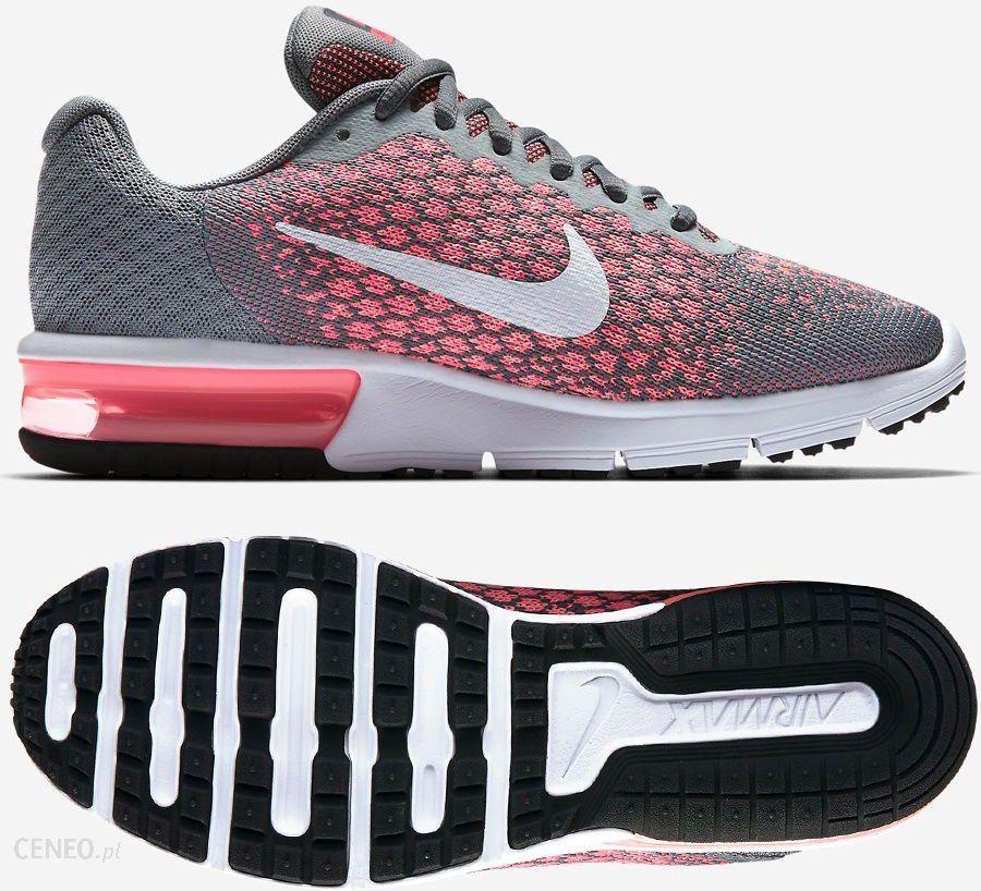 Markowe Buty Nike Wmns Air Max Sequent 3 Bordowe,Szare,Białe