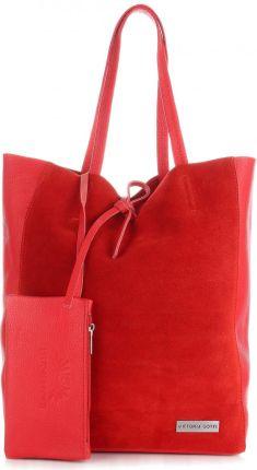 e5acb7658ca7b Podobne produkty do Włoskie Torebki Skórzane VITTORIA GOTTI ShopperBag z Etui  Czerwona (kolory)