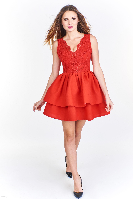 c88bd7be50 PtakModa - Sukienka mini z koronkowym gorsetem BICOTONE - Ceny i ...