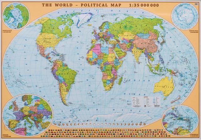 Swiat Mapa Scienna Polityczna Arkuszowa Ang Ceny I Opinie Ceneo Pl