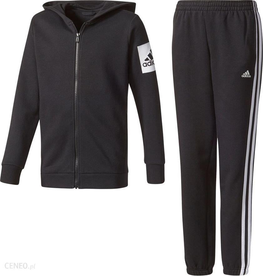 Adidas Dres adidas YB Hojo Suit Ch CE8595 CE8595 czarny 152 cm CE8595 Ceny i opinie Ceneo.pl