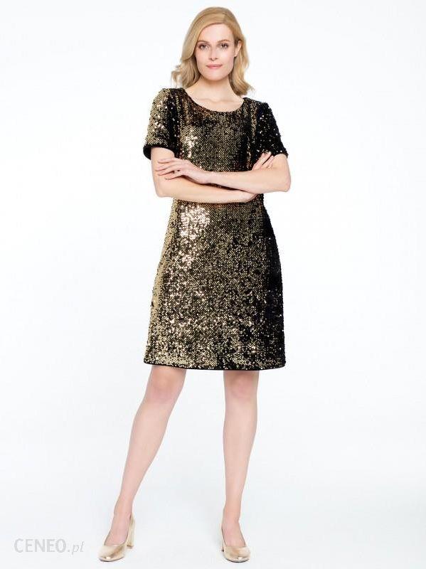 635edc13bc Cekinowa złota sukienka Potis   Verso FONTE - Ceny i opinie - Ceneo.pl