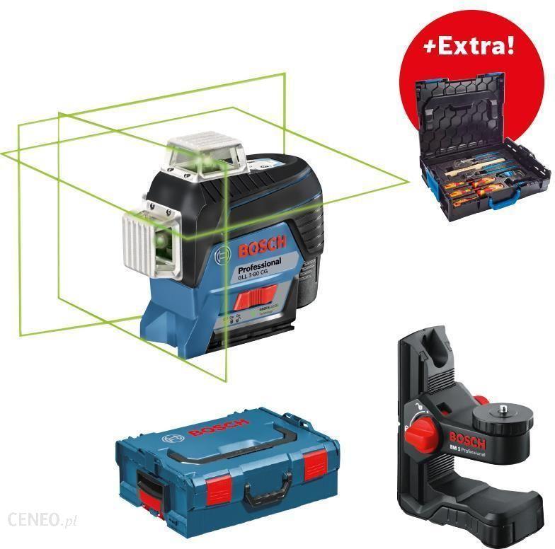 8404f7d955f9e4 Poziomica Bosch GLL 3-80 CG + Zestaw narzędzi ręcznych Gedore - zdjęcie 1