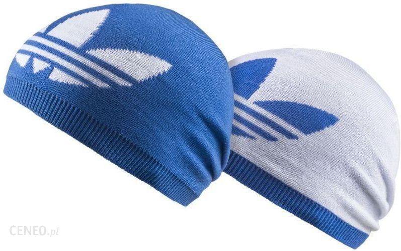 Adidas Czapka Zimowa Dwustronna Reversible Blue White Ceny i opinie Ceneo.pl