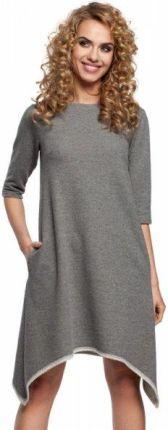 b117710ce6 Podobne produkty do Asymetryczna bawełniana sukienka na co dzień szara M291.  M291 Sukienka szara