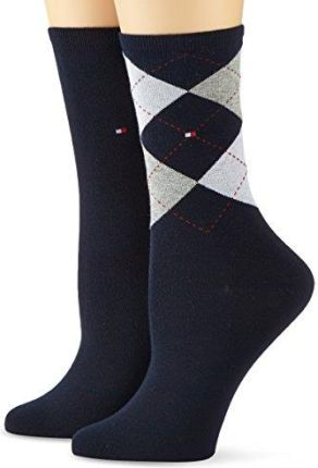 Amazon Tommy Hilfiger Damski skarpety Check Sock 2P -