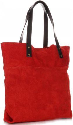 01c1de719c652 Torebki Skórzane VITTORIA GOTTI Uniwersalny ShopperBag Czerwona (kolory) ...