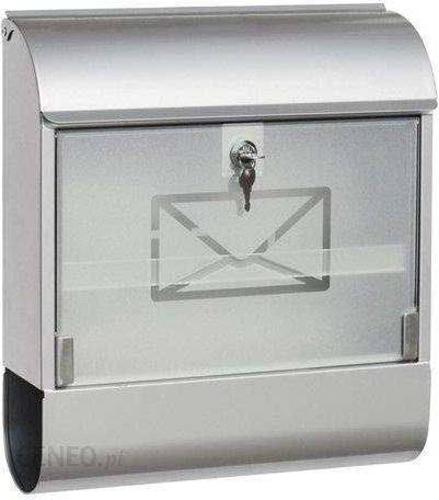 Briefkasten Amazon Skrzynka na listy skrzynka pocztowa na gazety tuba na  gazety – blacha stalowa cynkowana z szklanym frontem – różne rozmiary, 46 7  c