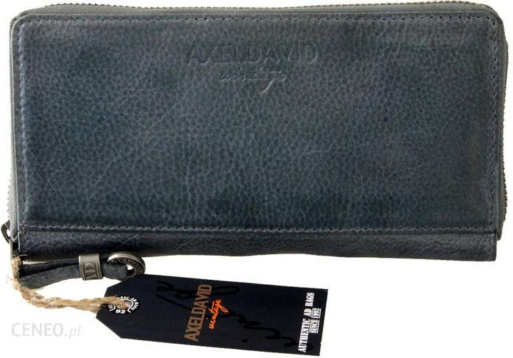 d37c11d9c402c Elegancki skórzany portfel damski czarny Axel David wintage - Czarny -  zdjęcie 1