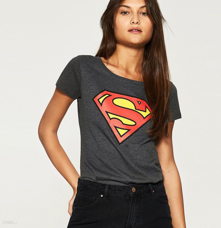 Koszulka Superman Szary Szare t shirty damskie Sinsay, l