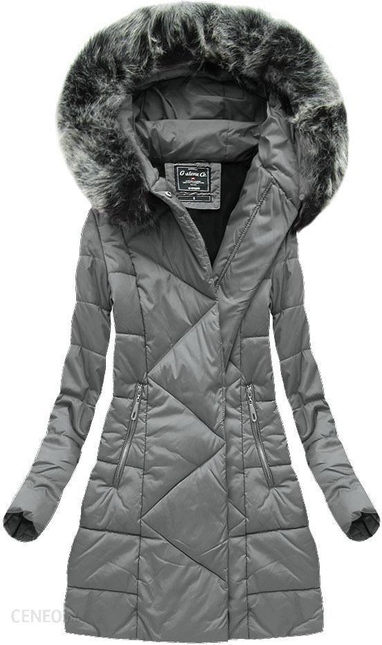 kurtka zimowa asymetryczna star grey